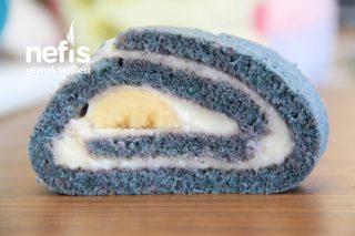 Mavi Renkli Rulo Pasta Gıda Boyasız (Videolu) Tarifi