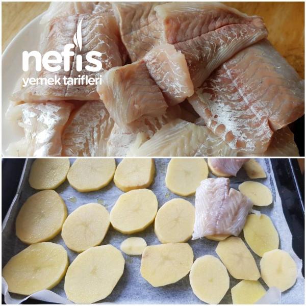 Üzeri Balık Ve Soğanlamalı Patates Dilimleri