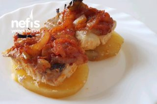 Üzeri Balık Ve Soğanlamalı Patates Dilimleri Tarifi