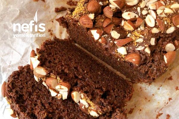 Badem Unlu Kakaolu Kek (Glutensiz Ve Rafine Şekersiz)