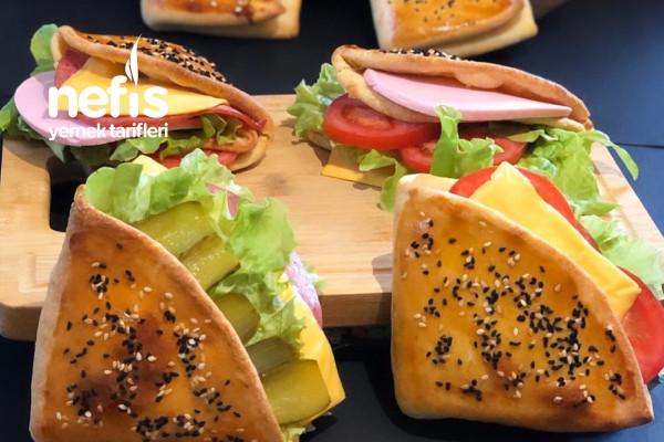 Cepli Poğaça Sandviç