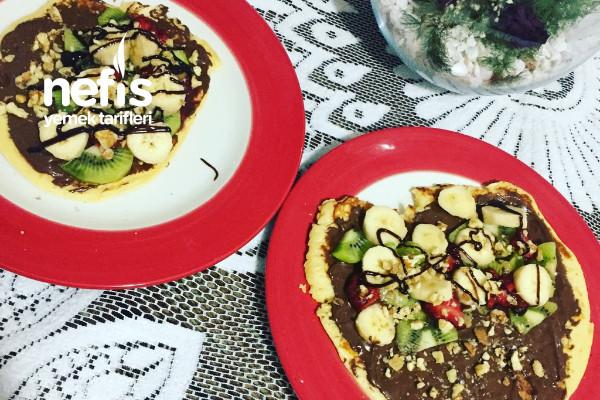 Pankek Waffle (Meyveli Kaktöş) Tarifi