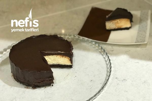 Altıda Üstüde Enfes Çikolatalı Cheesecake (Videolu) Tarifi