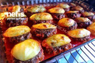 Midye Şekilli Fırında Köfte - Patates Tarifi