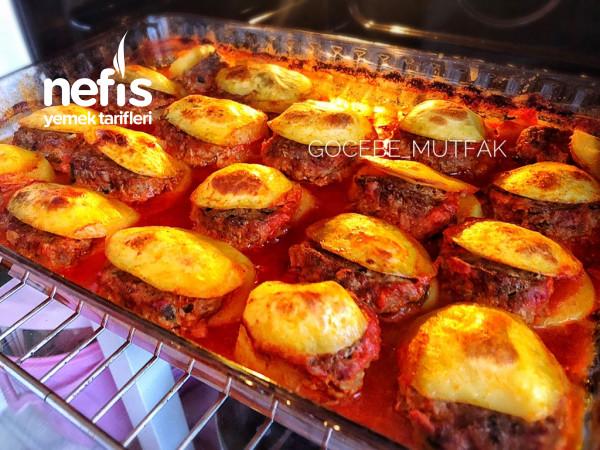 Midye Şekilli Fırında Köfte -patates