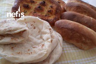 Tek Hamur Çeşit Çeşit Ekmek Tarifi