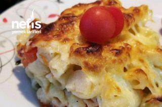 Köz Patlıcan Ve Beşamel Soslu Makarna Tarifi
