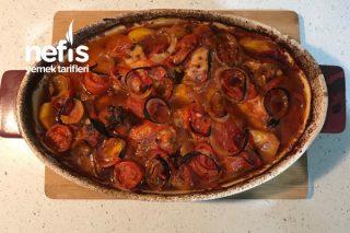 Fırında Sebzeli Lokum Tavuk Tarifi