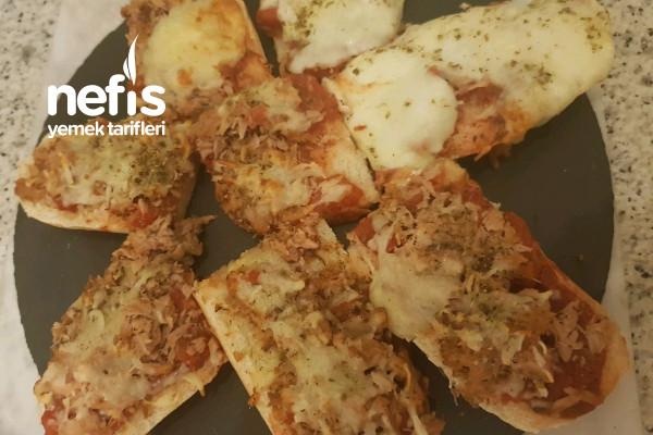 Baget Ekmeğinden Şipşak Pizza Tarifi