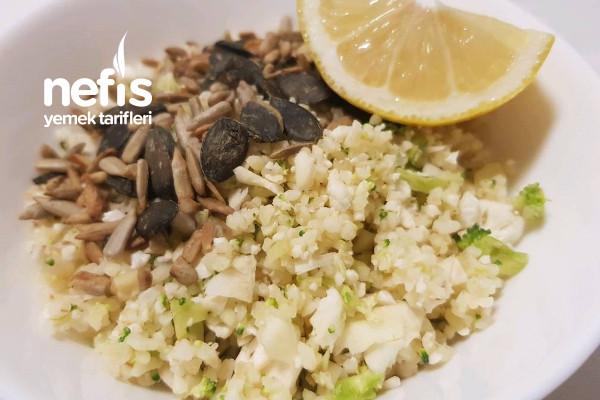 Kavrulmuş Çekirdek ile Brokoli Karnabahar Salatası Tarifi