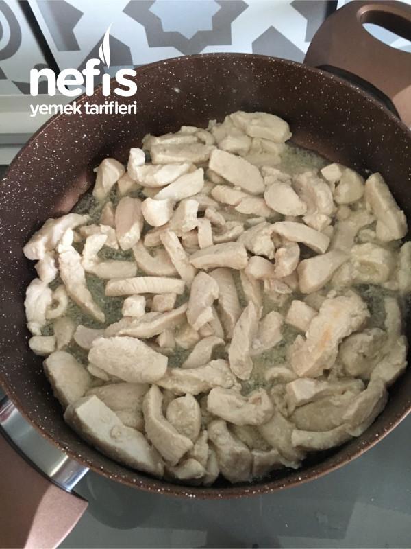 Kremalı Mantarlı Tavuk Sote