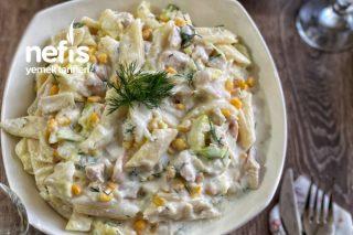 Göbekli Makarna Salatası Tarifi