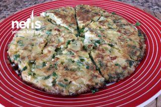 Kahvaltılık Yeşil Soğanlı Omlet Tarifi
