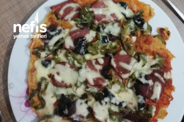 Mercimek Krepli Pizza (Karatay Beslenmesine Uygun) Tarifi