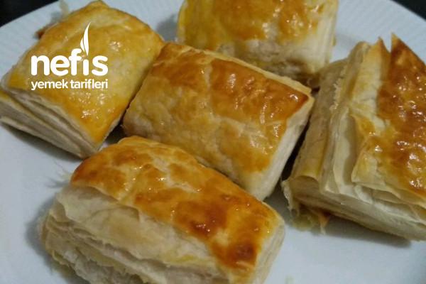 Sucuklu Milföy Börek (40 Adet Çıkar) Tarifi
