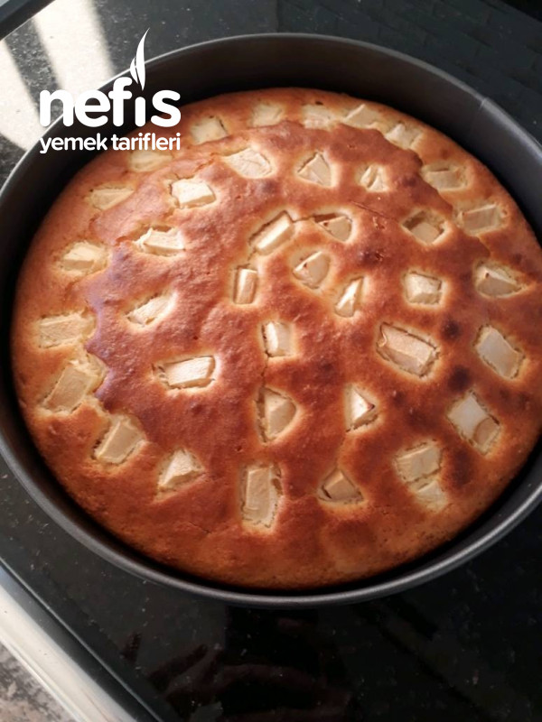 Kremalı Elmalı Kek (Gida Boyali)