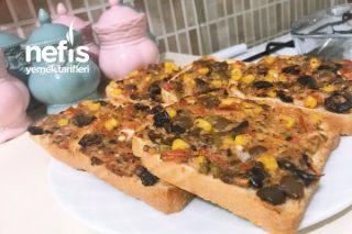 Kahvaltılık Tost Ekmeğinden Pizza Tarifi