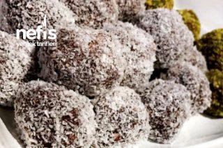 Çikolatalı Antep Fıstıklı Cocoslu Toplar Tarifi
