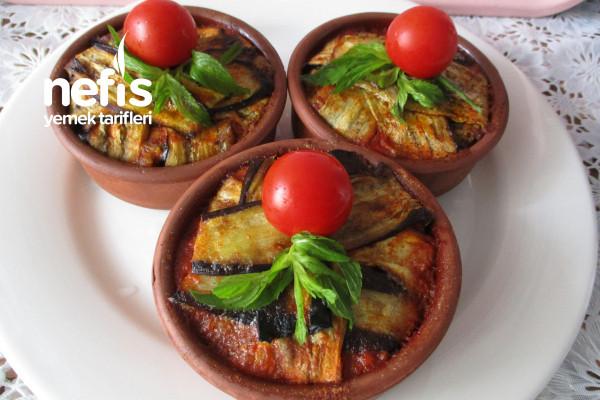 Güveçte Kızartmadan Patlıcanlı Gelin Bohçası Tarifi
