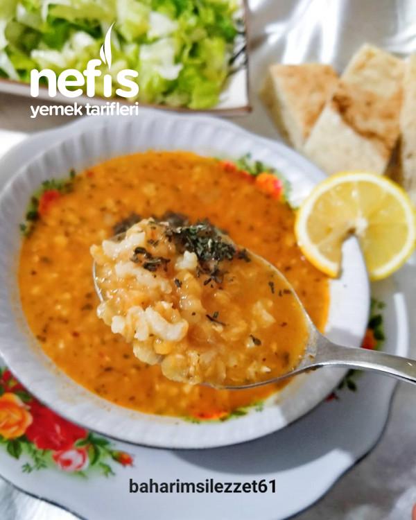 Pirinçli Mercimek Çorbası pratik Ve Nefis Lezzet