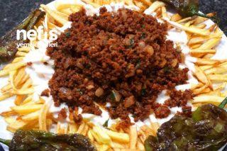 Çökertme Görünümlü Kıymalı Patates Kızartması Tarifi