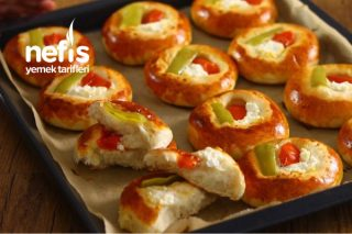 Pastane Usulü Pizza Poğaça (Videolu) Tarifi