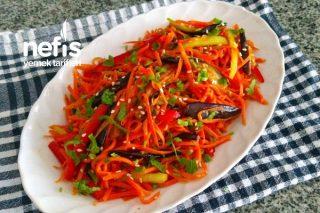 Patlıcanlı Havuç Salatası (Kore Mutfağı) Tarifi