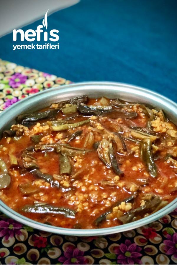 Çan Yemeği (Kuru Patlıcan Yemeği)