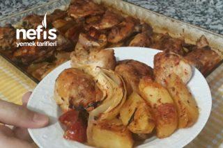 Fırında Pratik Tavuk Patates Yemeği (Videolu) Tarifi