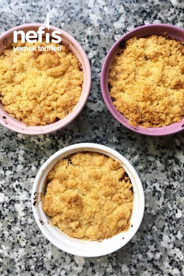 Karamelize Elmalı Tarçınlı Crumble