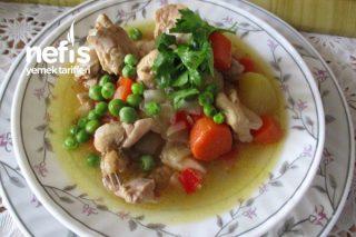 Taze Bezelyeli Tavuk Haşlama Yemeği Tarifi