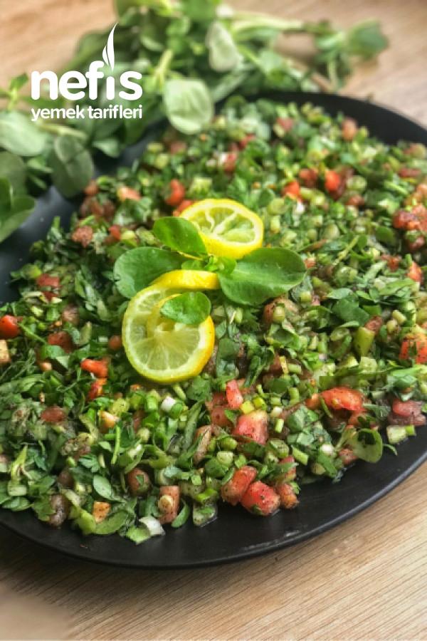 Yaz Günlerinin Vazgeçilmezi Semizotlu Kaşık Salata