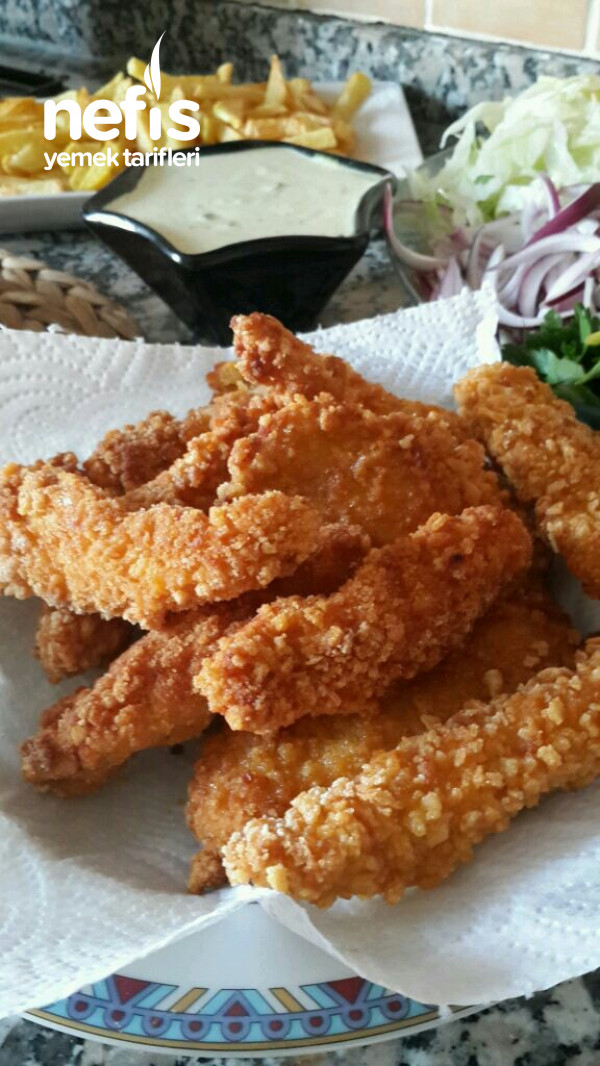 Çıtır Tavuk Dürüm (Fasfood Yediklerimiz Halt Etmiş)