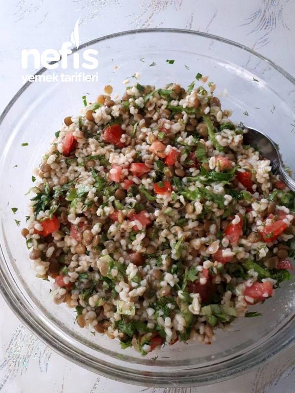 Mercimekli Bulgur Salatası (Diyet)