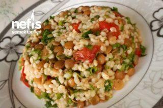 Mercimekli Bulgur Salatası (Diyet) Tarifi