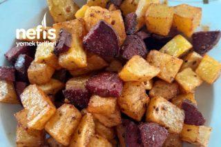 Kahvaltılık Sahurluk Kajun Baharatlı Kızartma (5 Dakikada Sıcacık Kahvaltılık) Tarifi