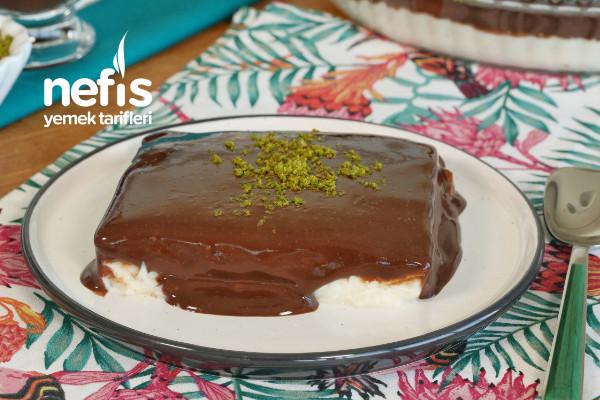 Çikolata Soslu Muhallebi (videolu) Tarifi