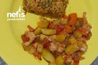 Pratik Tavuklu Sebze Kebabı Tarifi