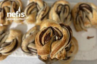 2 Malzemeli Çikolatalı Milföy Çörekler Tarifi