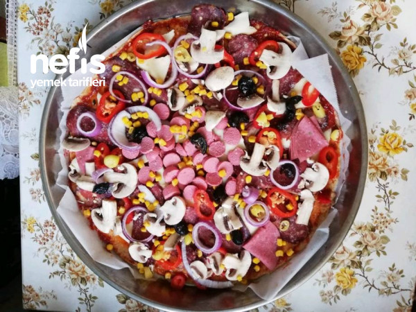 Bol Malzemeli Pizza (Tam Buğday Unlu)