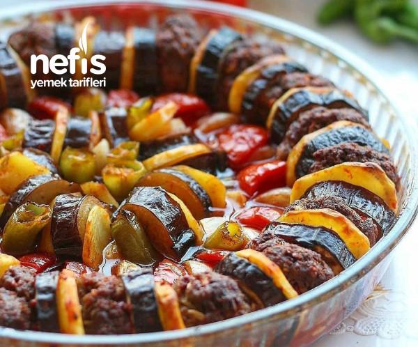 Patlıcan Patates Ve Kabak Kebabı
