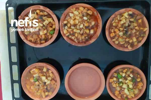 Pratik Güveçte Mantar&sebze