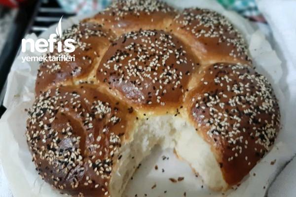 Puf Puf Yumuşacık Çiçek Ekmek Tarifi