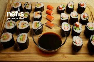 Sushi (Shake Temaki Ve Kani Temaki) Tarifi