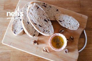 Cevizli Zeytinli Buğday Unlu Ev Ekmeği Tarifi