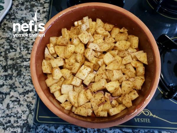 Fırında Peynirli Baharatlı Patates