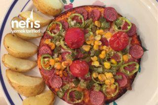 5 Dakikada Lavaş Pizza Tarifi