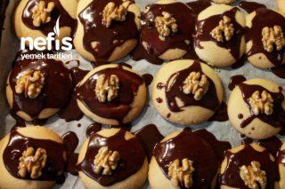 Çikolatalı Cevizli Un Kurabiyesi Tarifi
