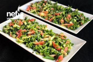 Ekşili Yeşil Soğan Salatası Tarifi