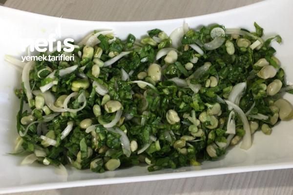 Hafif Ve Farklı Yeşil İç Bakla Salatası Tarifi